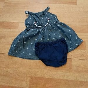 Baby girl denim start dress size 3 months